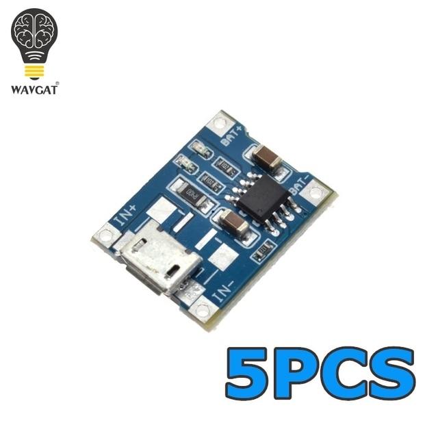 5 шт. Micro USB TP4056 1A посвященный литиевая батарея зарядного устройства зарядки Модуль литиевая батарея зарядное устройство Модуль 1A зарядки доска