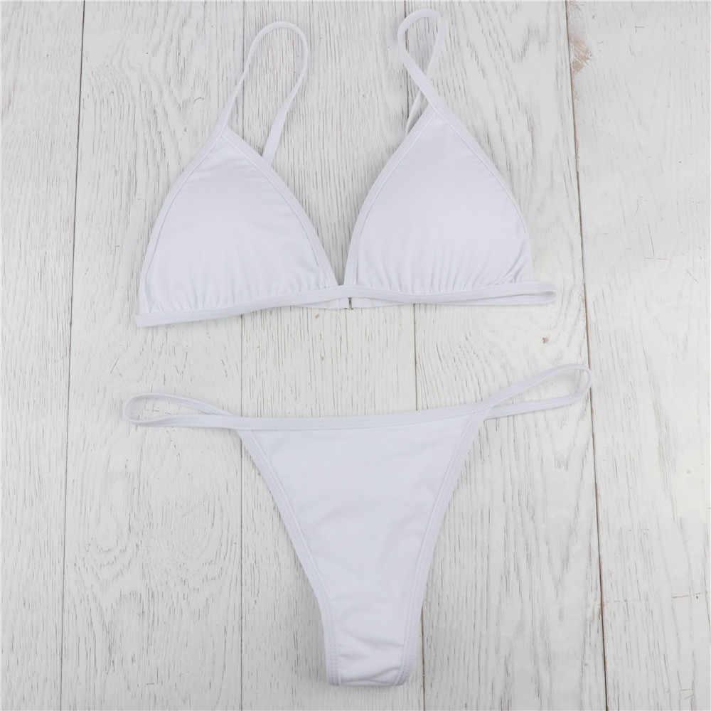 TELOTUNY panie strój kąpielowy kobiety biustonosz usztywniany stringi stringi stroje kąpielowe dwa kawałki strój kąpielowy stroje kąpielowe kobiety stroje kąpielowe moda Hot Jan17