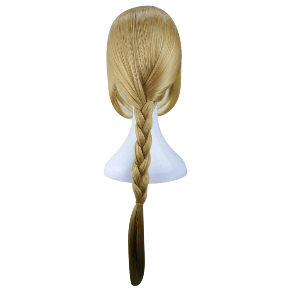 Image 3 - HAIRJOY Fullmetal Alchemist Edward Elric Blonde Cosplay Wig Curly Braided Synthetic Hair High Temperature Fiber Free Shippingfiber wigsfiber hairfiber braid -