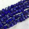 """AAA Genuíno Primas Minerais naturais Lapis Lazuli Azul Escuro Mão Cut Lapidado Nugget Forma Livre Grânulos Grandes 13-18mm 15 """"04336"""