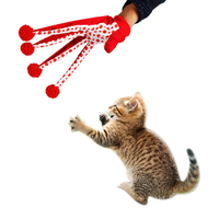 Domestic Delivery Pet Toys Gloves Play With Cats Interesting Toy Red Dot 2015 New Arrival Quickly