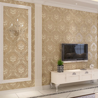 Hot Sale Vintage Classic French Modern 3D Damask Feature Wall Paper Roll For Living Room Bedroom