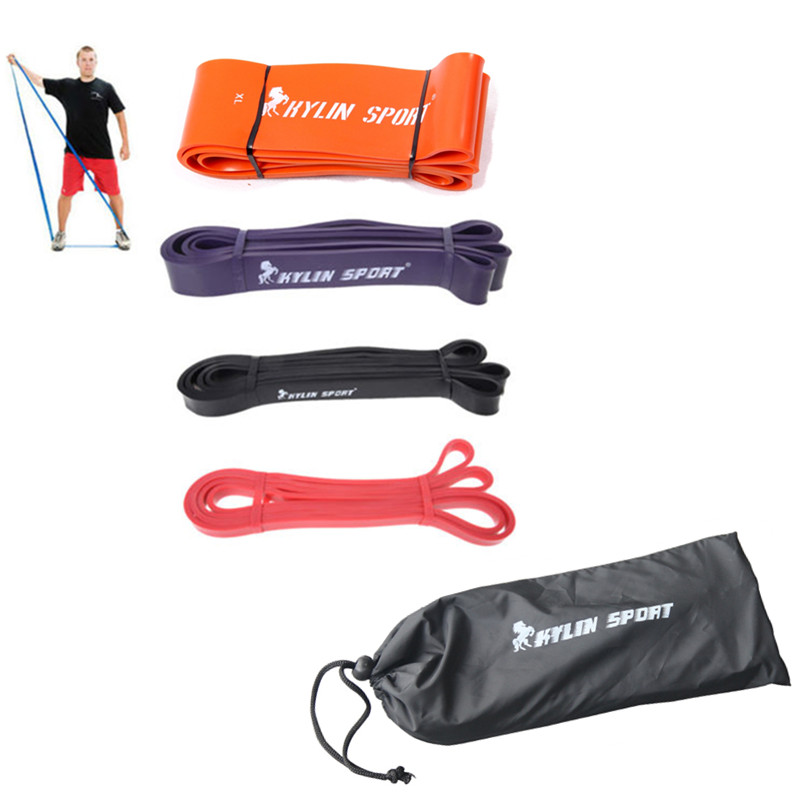 """4 Set doğal lateks 41 """"çapraz fitness ekipmanları ilginç daire fiziksel kauçuk direnç bandı"""