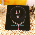 20pcs/lot Jewelry Set Display Cards Stand Holder Rack Earring Necklace Ring Pendant Display Cards with OPP Plastic Bag