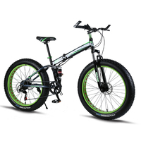 Folding Bicycle Mountain Bike 26 inches 7/21/24 Speed 26x4.0 damping bikes road bicycles folding bicycle fat bike