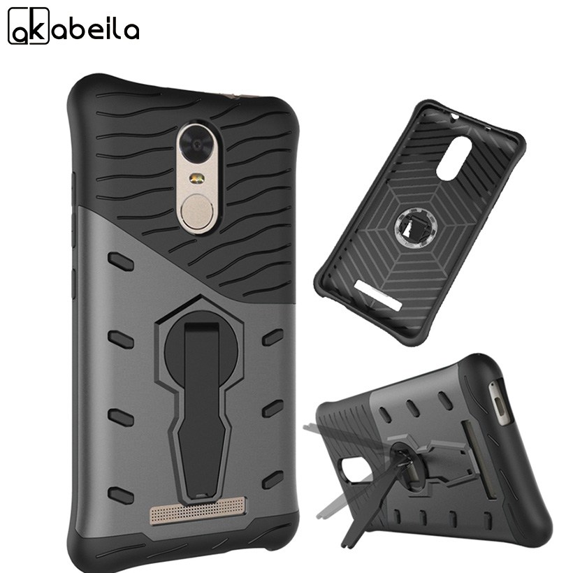 AKABEILA <font><b>Cell</b></font> <font><b>Phone</b></font> <font><b>Cases</b></font> For Xiaomi Redmi Note 3 Pro Note4 Note4X <font><b>Case</b></font> PC TPU 2in1 Hybrid Amor Covers For Redmi Note3 s