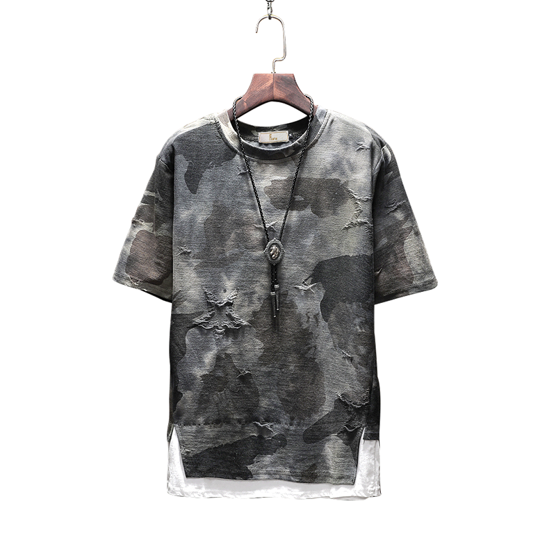New arrival 2018 summer fashion letter print camouflage short sleeve t shirt for men men's military streetwear t-shirt DTX2 27