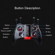 2017 Yeni Mocute 050 Güncelleme 054 Bluetooth Gamepad Joystick PC Kablosuz Denetleyici PC Akıllı Telefonlar Için VR Oyun Pedi VR...