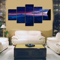 2017 New Unframed Sky And Landscape Canvas Painting Beautiful Scenery Wall Art Picture Home Decoration Painting Free Shipping