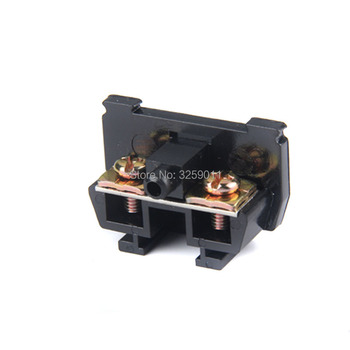 1PCS TBC-10A Suyep 10A/600V Rail Mounted Assembled Screw Terminal Block Cable Connector Black 0.75-1.5 mm image