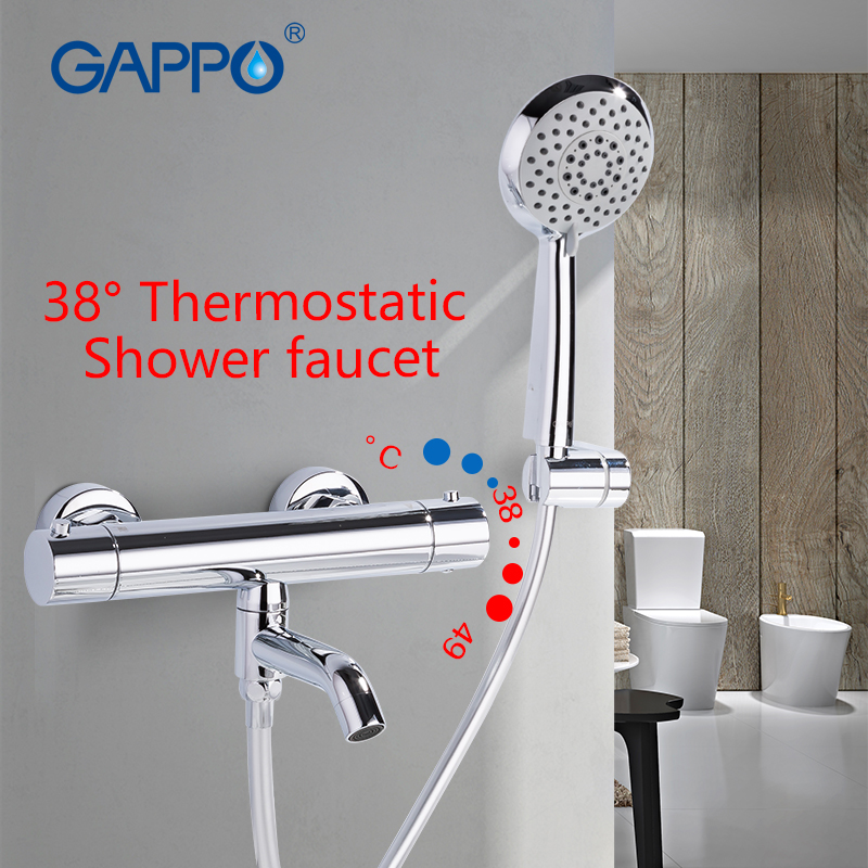 GAPPO Bathtub faucet basin sink waterfall faucets shower mixers taps bath faucet mixer Rainfall taps thermostatic