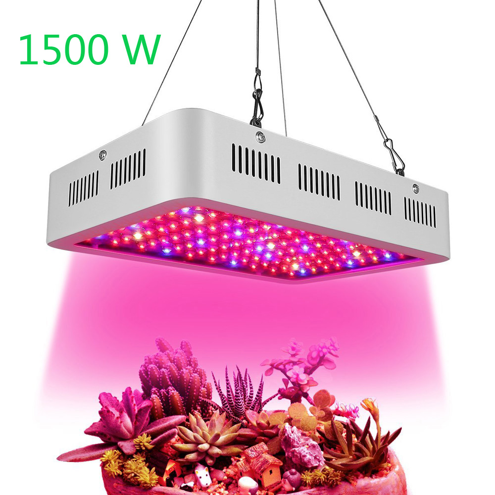 HOLLKY 1500W AC85-265V 100 LEDs Grow Light Full Spectrum LED Plant Grow Lamps with UV and IR for Indoor Plants Veg and Flower 600w double chip 100 leds red grow light full spectrum uv ir for indoor greenhouse plant and flower