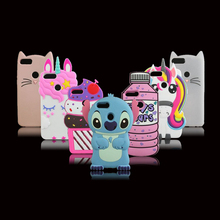For Huawei P Smart Case 3D Silicon Cartoon Soft Funda Huawei