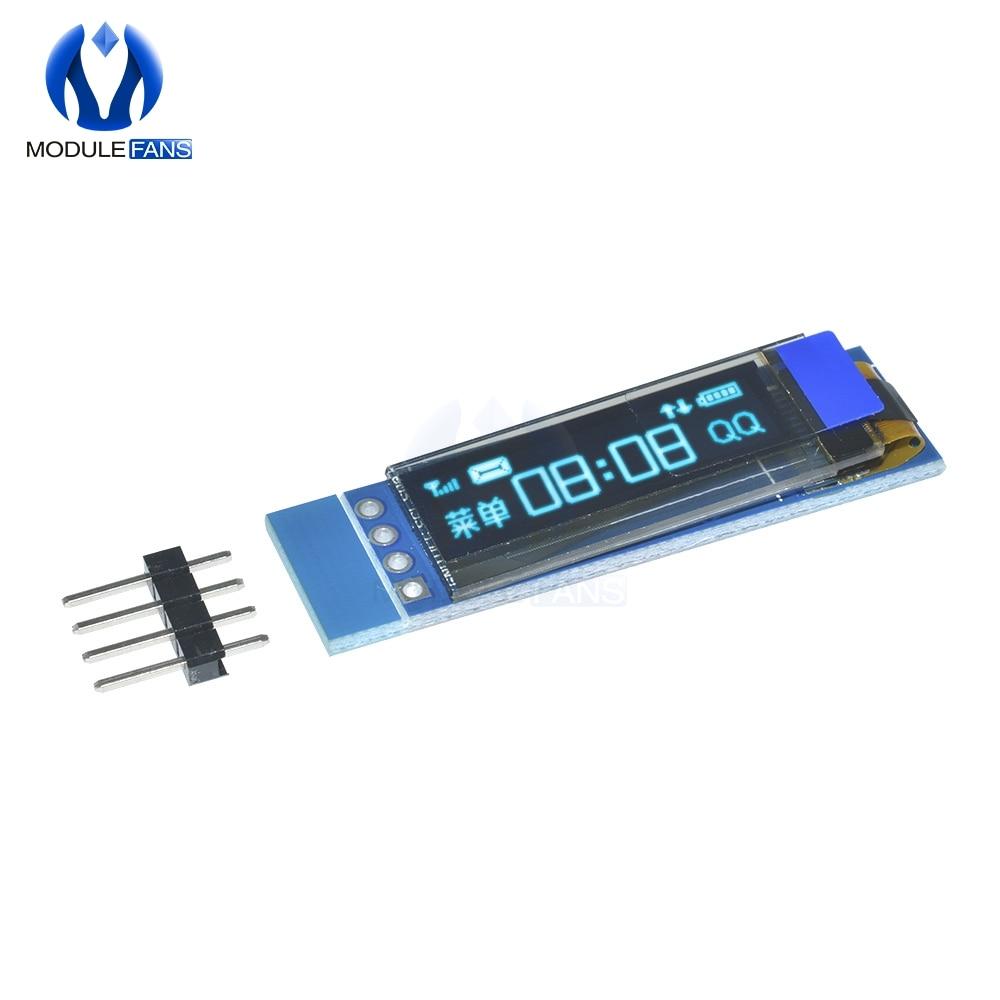 Diymore 0.91 Inch 128x32 I2C IIC Serial Blue OLED