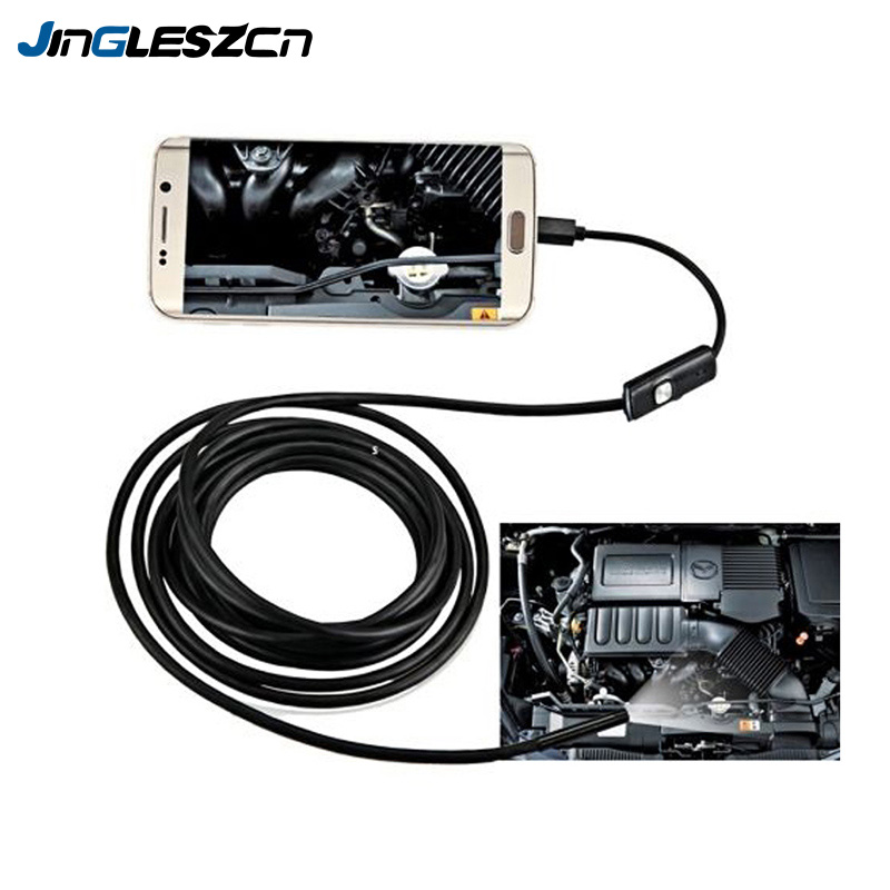 3 In 1 1M 1.5M 2M 3.5M 5M 5.5mm Lens USB Endoscope Camera Waterproof Wire Snake Tube Inspection Borescope For OTG Android Phones3 In 1 1M 1.5M 2M 3.5M 5M 5.5mm Lens USB Endoscope Camera Waterproof Wire Snake Tube Inspection Borescope For OTG Android Phones