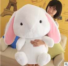 big plush rabbit to  new creative stuffed white rabbit doll gift doll about 80cm