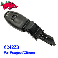 Harbll Newest Cruise Control Stalk Switch With Speed Limit 6242Z8 For Peugeot 207 208 307 406
