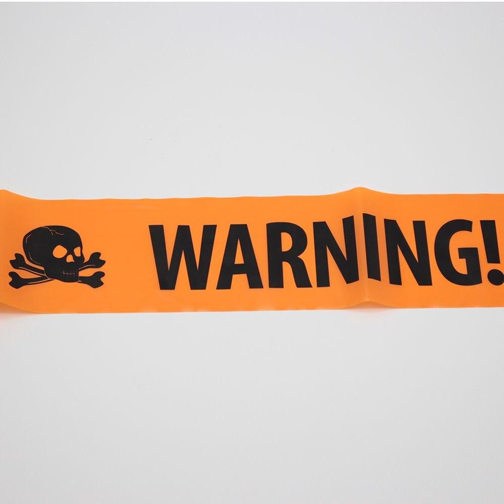 1 шт. 560*8 см весело Пластик Halloween Party Сигнальные ленты Признаки Декор окна Опора украшения