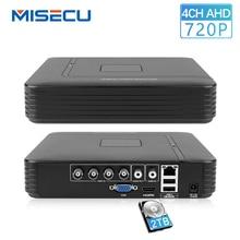 MISECU 4-канальная аналоговая камера высокой четкости, видеорегистратор AHD-M 720 P видеонаблюдения рекордер наружного наблюдения 4CH мини Гибридный HDMI Поддержка IP аналоговая камера высокого разрешения P2P