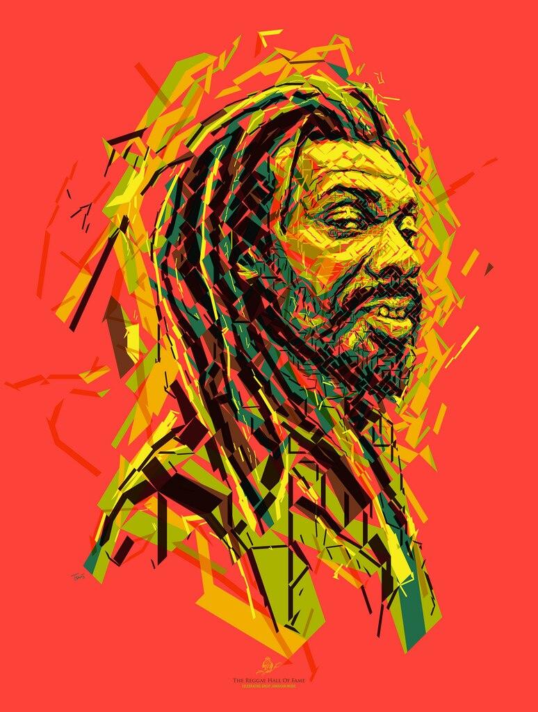 Jamaica Reggae Bob Marley America Retro Dos Desenhos Animados Do