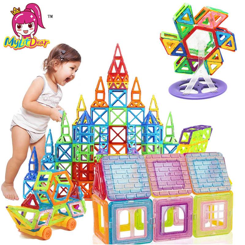 100-298 шт Мини Магнитный дизайнерский Строительный набор модель и строительные игрушки Пластиковые Магнитные дизайнерские Развивающие игрушки для детей подарок
