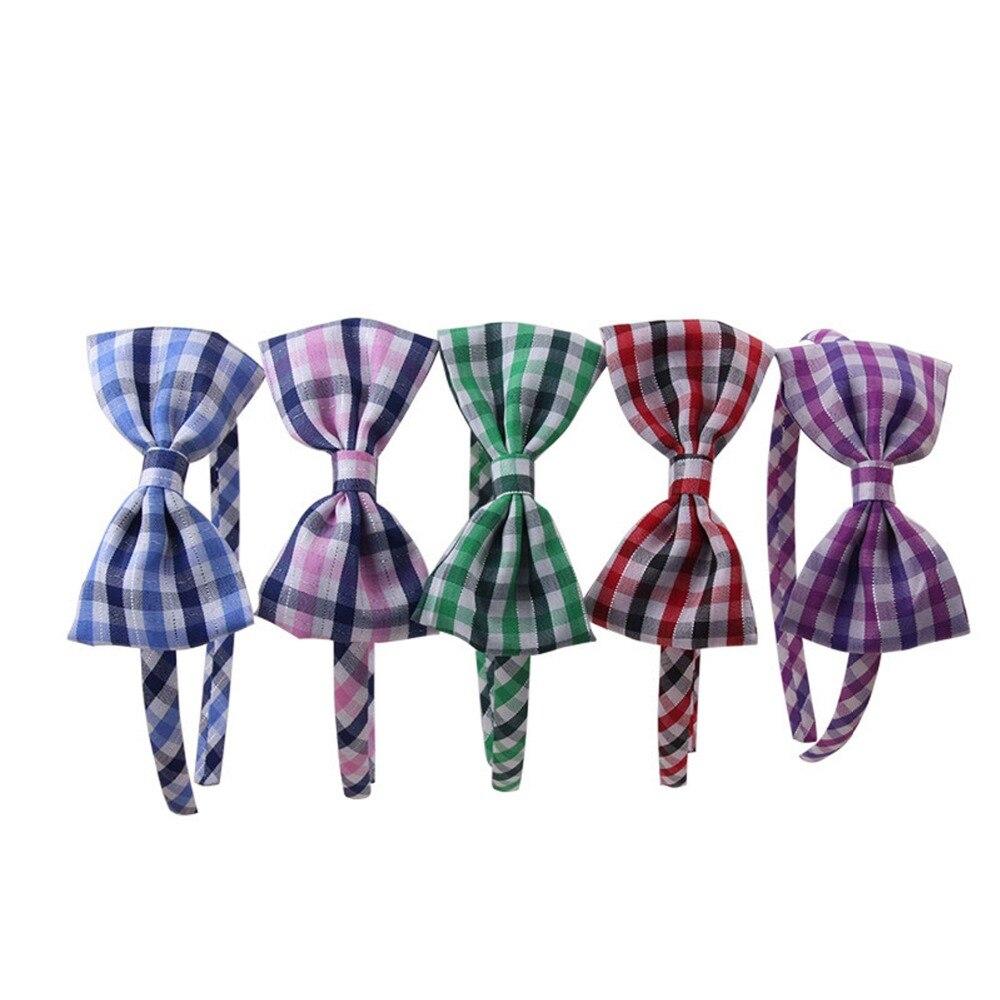 ⑤Arco lindo Plaid satén diadema cubierto de tela accesorio banda ...