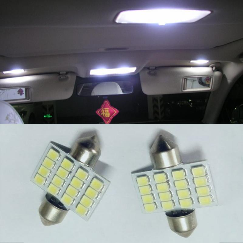 New Car styling 16 SMD LED 1210 31mm Car Warm White Interior Dome Festoon Bulb Light Lamp DC 12V C5W Reading Lights Bulb Lamp