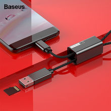 Baseus Card Reader 3 in 1 USB C Cable For Samsung Oneplus 6 5T Huawei Laptop TF Card Data Sync OTG Adapter USB-C Charging Cable usb 2 0 to micro usb data sync charging cable w otg adapter cable for samsung s3 n7100 black