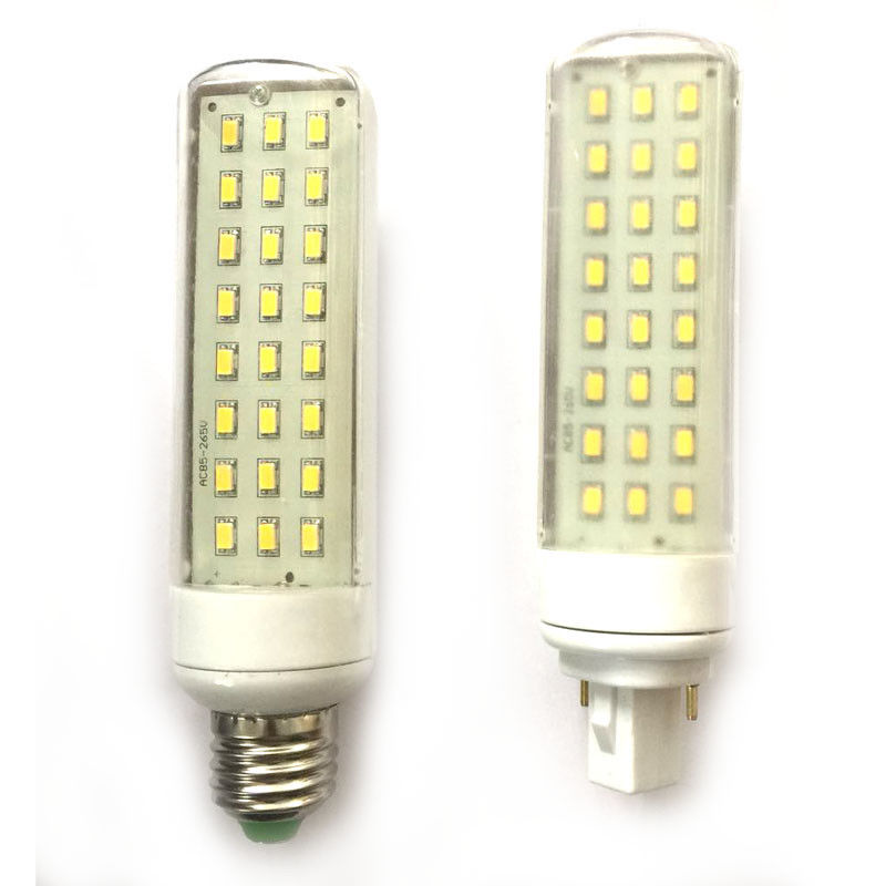 Ac/dc Adapters Hearty Classic Plastic Indoor Outdoor Ac 85v-265v E27/g24 7w 24 Smd 5630 Led Horizontal Plug Lamp Bulb Pure Warm White Light W/ Cover Firm In Structure Home Electronic Accessories