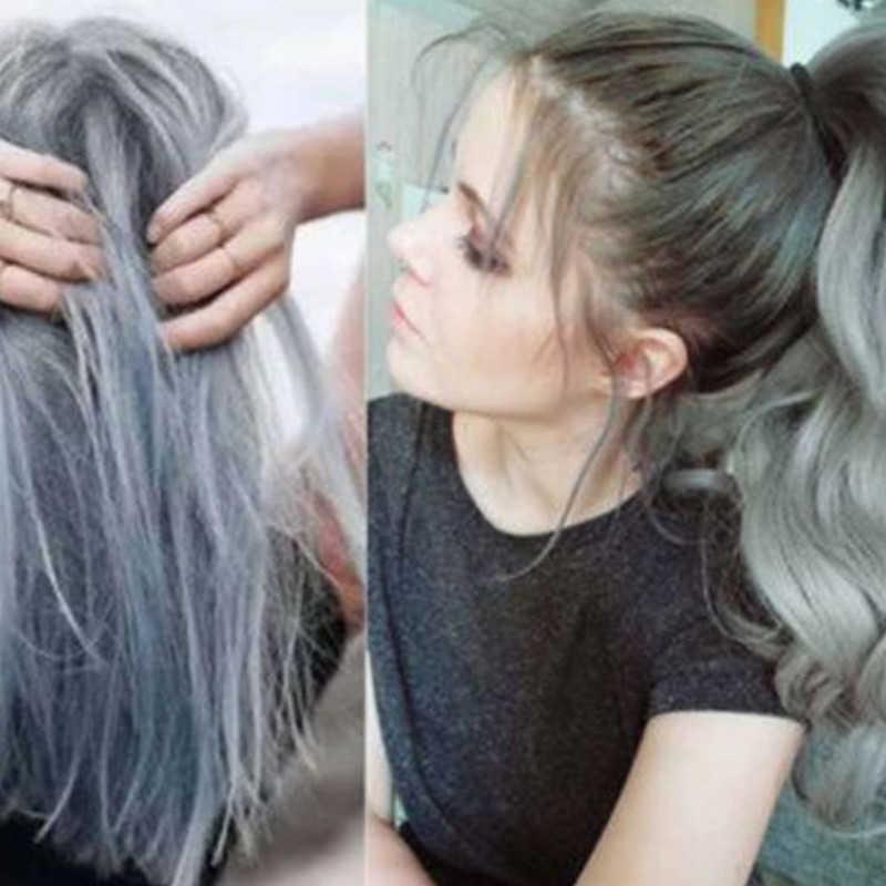 Tintura color gris para el cabello