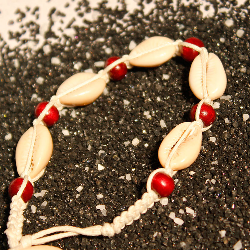 New Summer Beach Chain Anklets Shell Hand woven Creative Ankle Footchain Anklet Bracelet for Women Jewelry in Anklets from Jewelry Accessories
