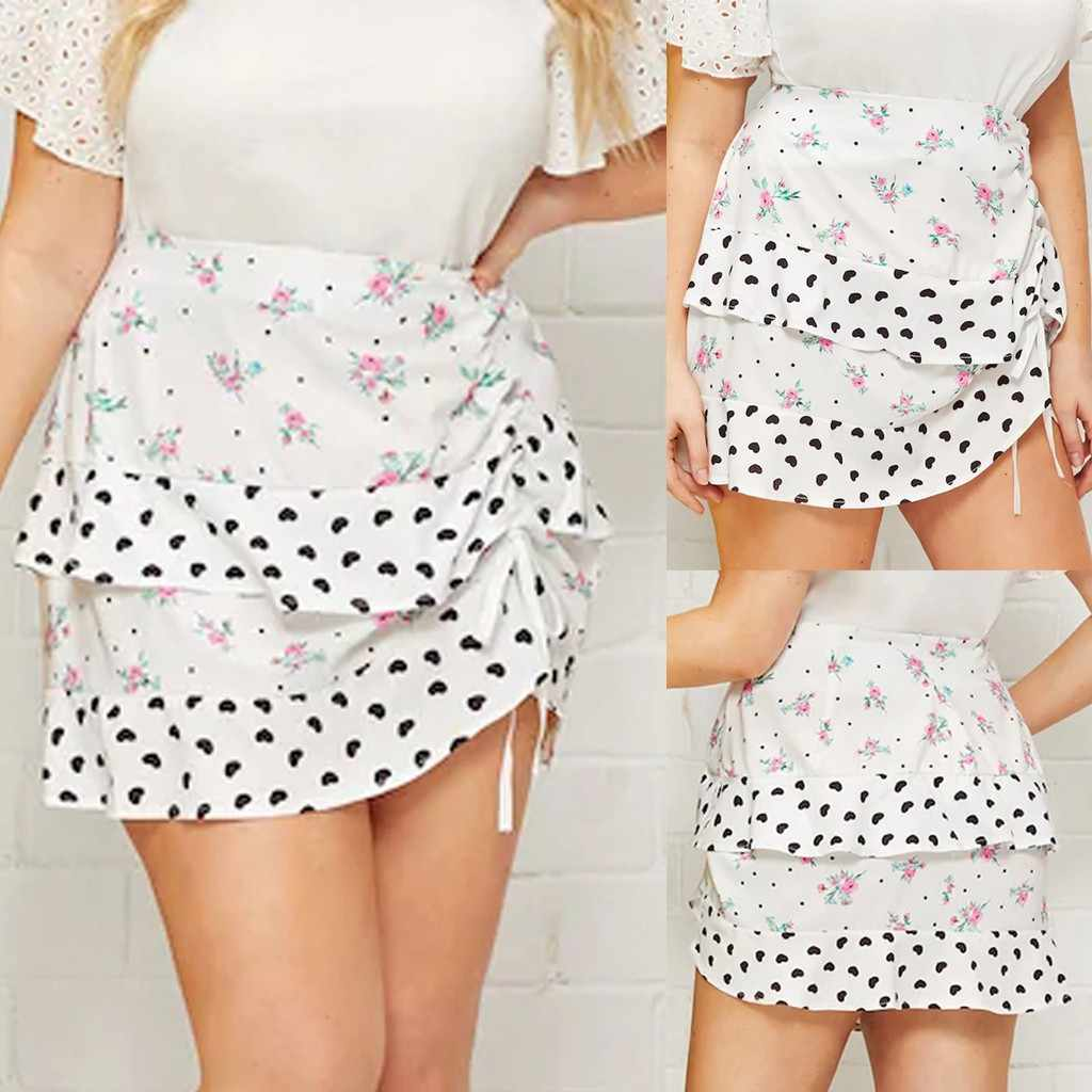 Бесплатная Страусиная короткая юбка женская в форме сердца гофрированная половина тела Милая Империя свободные белые достойное превосходное изысканное короткое лето