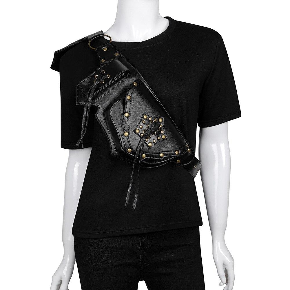 Mode hommes multifonction tactique ceinture sac femmes téléphone pochette Fanny Pack Steampunk PU cuir femelle taille Pack Heuptas Pochete