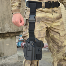 лучшая цена Tactifans Tactical Gun Holster Right Hand Airsoft Compact 579 Pistol Thigh Leg/Belt Clip Handgun For Glock/H&K/USP/Ruger/ S&W