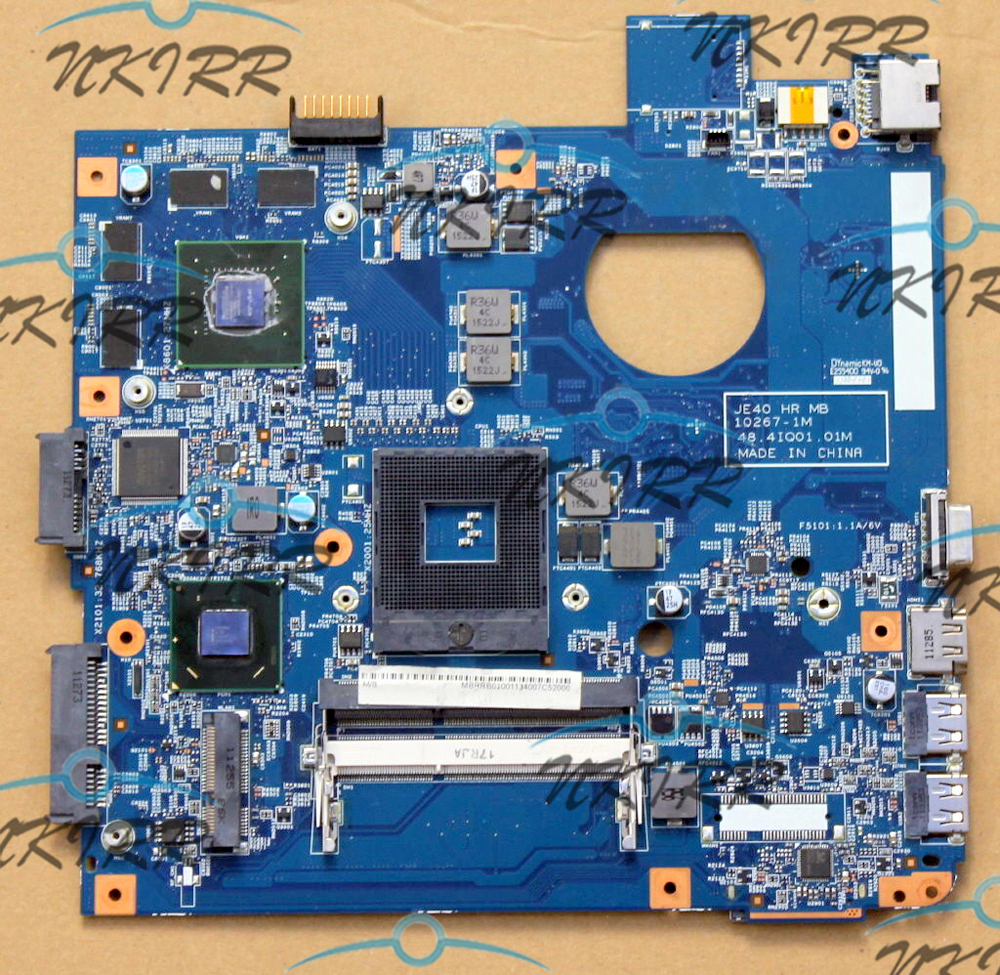 JE40 JE40-HR 10267-1M 48.4IQ01.01M MBRC901001 HM65 1G 540M MotherBoard for Aspire Travelmate 4350G 4750G 4752G 4352G 4755G 4750Z nokotion laptop motherboard for acer aspire 4752 4755 je40 hr mb 10267 4 48 4iq01 041 hm65 ddr3 mbrpt01001 mb rpt01 001