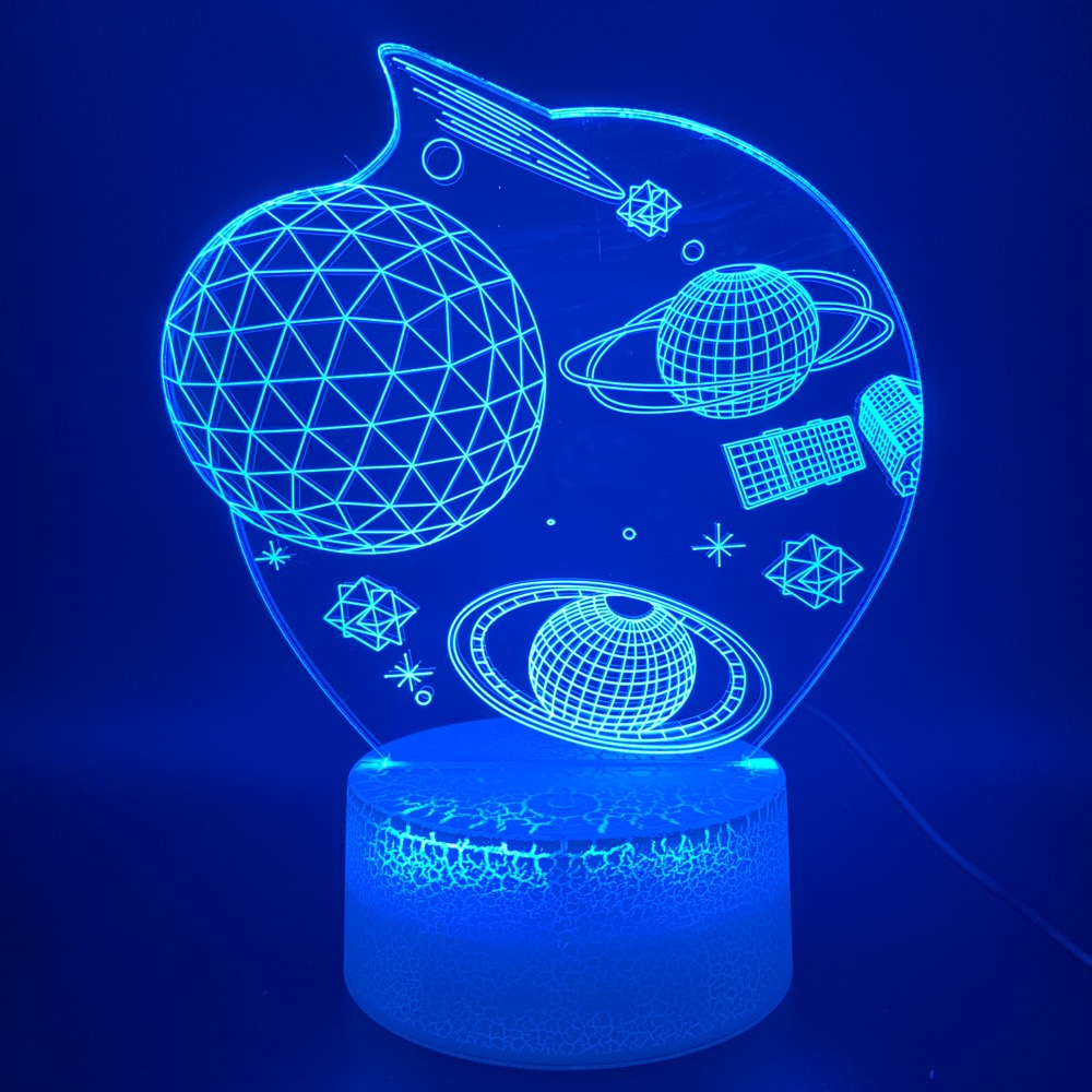 3d Led Night Light Lamp Space Universe Star Planet Office Home Room Decorative Nightlight Gift For Kids Children's 3d Night Lamp