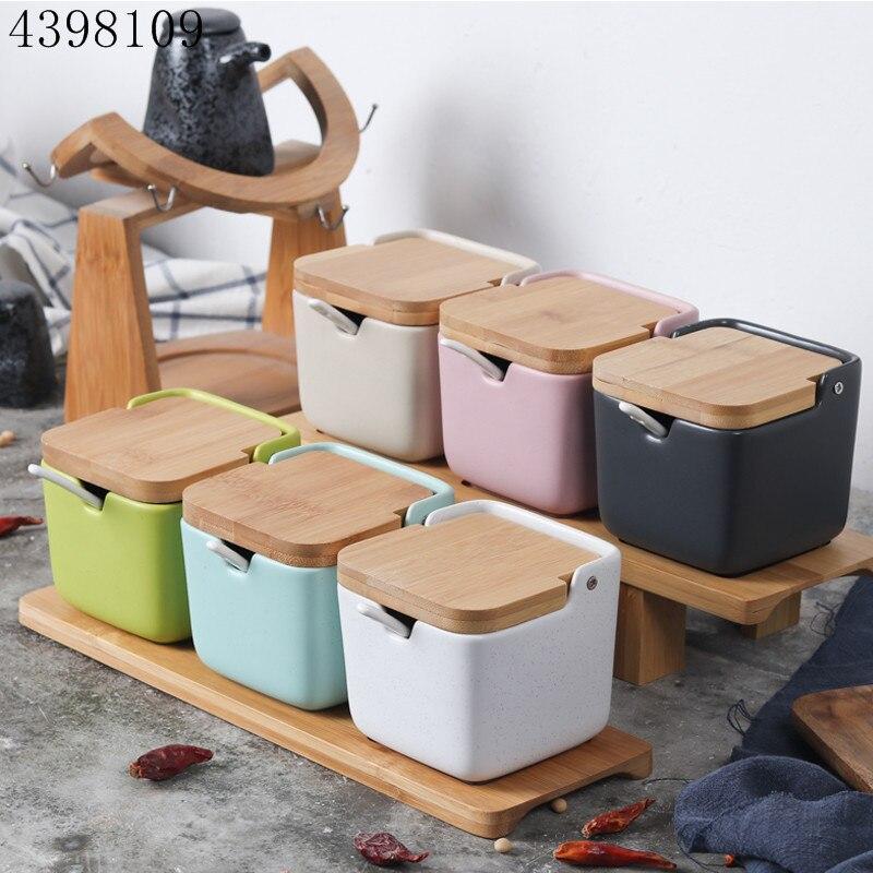 Seasoning Jar Pepper-Bottle Kitchen-Supplies Ceramic Japanese-Style Flavoring-Tool Clamshell