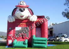 Castle house Jumping bouncer Air trampoline Inflatable dog combo