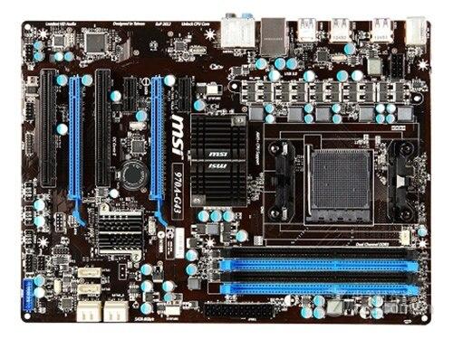 Livraison gratuite origine carte mère pour MSI 970A-G43 DDR3 AM3/AM3 + USB2.0 USB3.0 32 GB 970 De Bureau carte mère Livraison gratuite