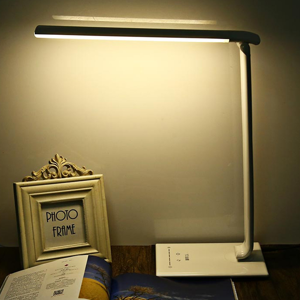 New 7W Dimmable LED Book Light Eye Care LED Desk Table Lamp Touch Sensor Foldable LED Night Light Multifunction Office LED Lamp recharge plug in charge eye care protection smart led reading light 360 degree rotatable dimmable desk table lamp light