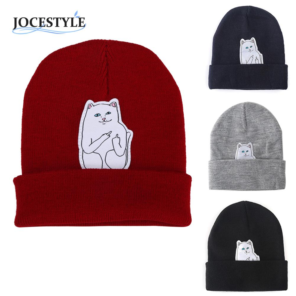 Women Cap Knitted Cat Hat Skullies Beanies Men Women Street Cap Unisex 4 color New Autumn Winter Spring Beanie Hip Hop Hedging women cap skullies