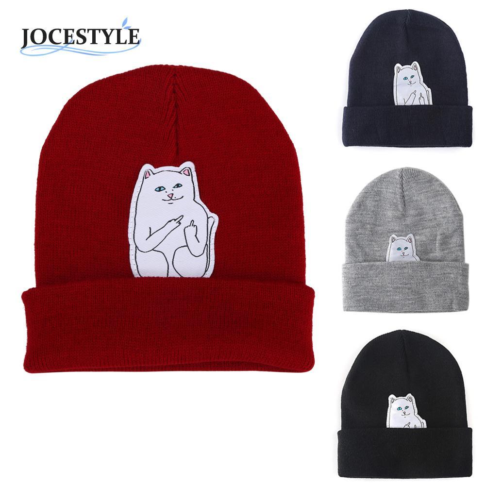Women Cap Knitted Cat Hat Skullies Beanies Men Women Street Cap Unisex Autumn Hat With A Cat Beanie Hip Hop Hedging Warm Beanies women cap skullies