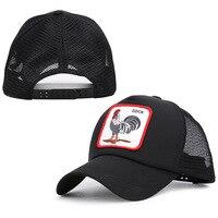 Mingli Tengda Fashion Animals Embroidery Baseball Caps Men Women Snapback Hip Hop Hat Summer Breathable Mesh Sun Gorras Bone