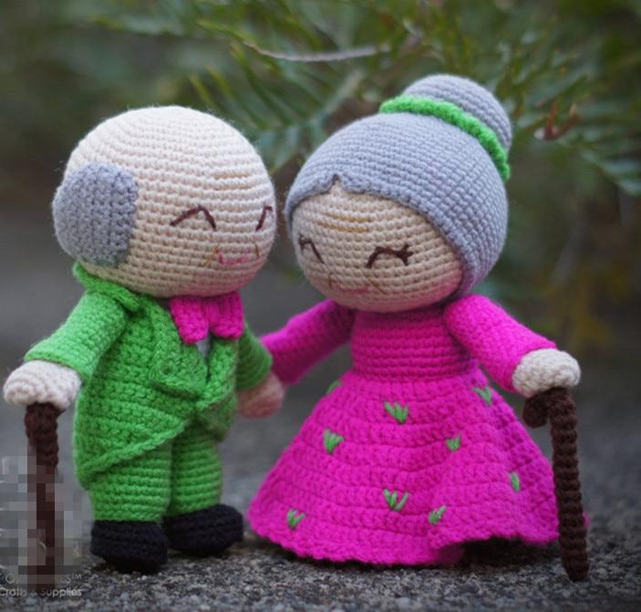 Crochet Toys  Amigurumi  Handmade  Wedding  Rattle  Doll   Model  Number  KY0034