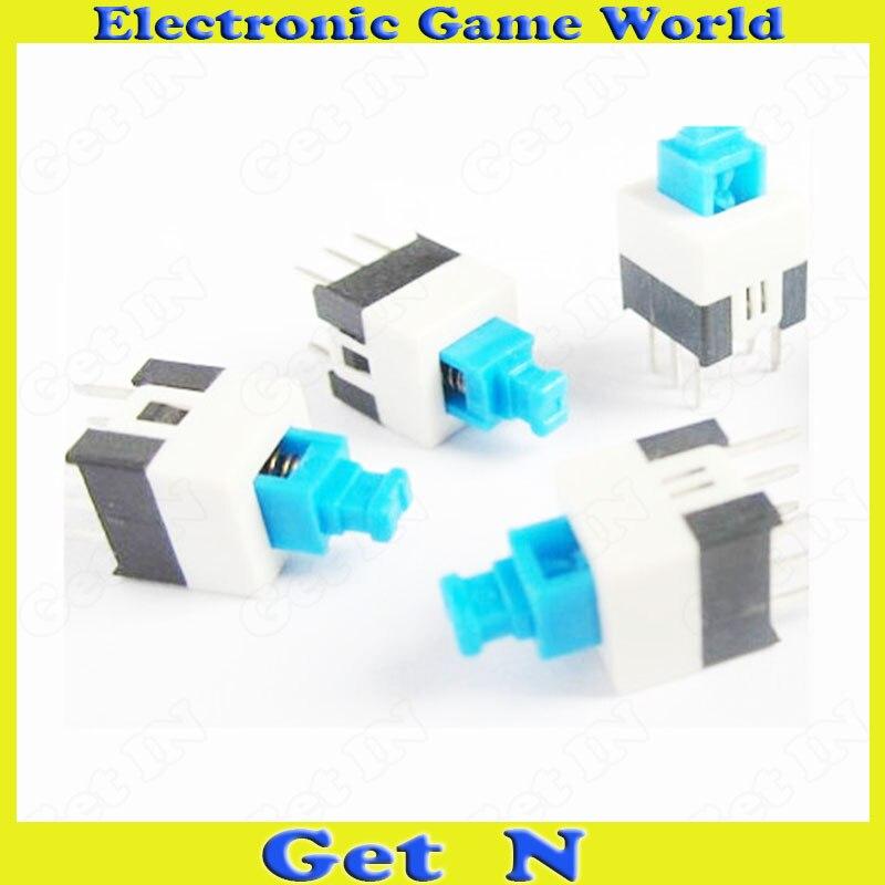 100 stücke 8*8mm keine Locking Doppelschalter Drucktasten Schalter ohne Verriegelung