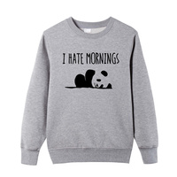 Winter I HATE MORNINGS Cute Panda Print O Neck Sweatshirt Fashion Dresses For Men S Sportswear