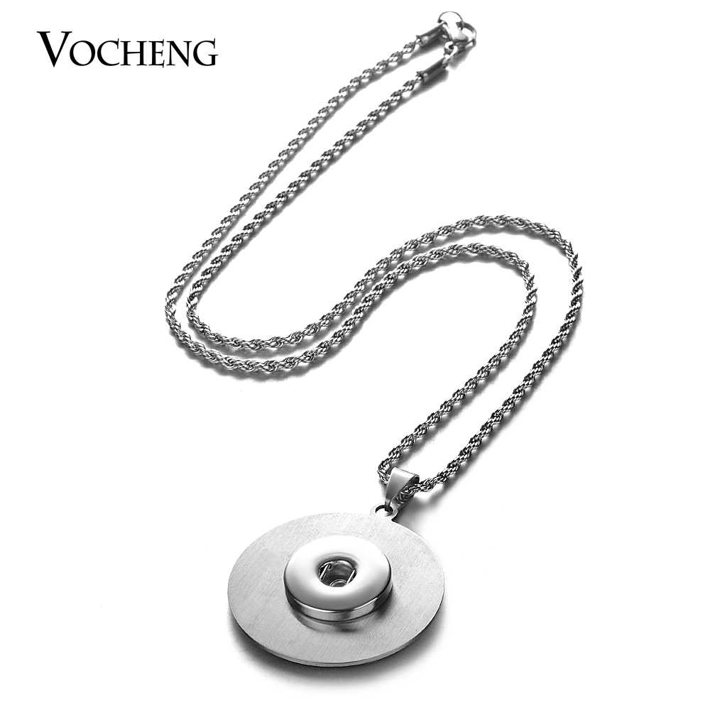 18mm Vocheng Ginger Snaps Jewelry Stainless Steel Pendant Stainless Steel Chain Necklace NN-518 Snap