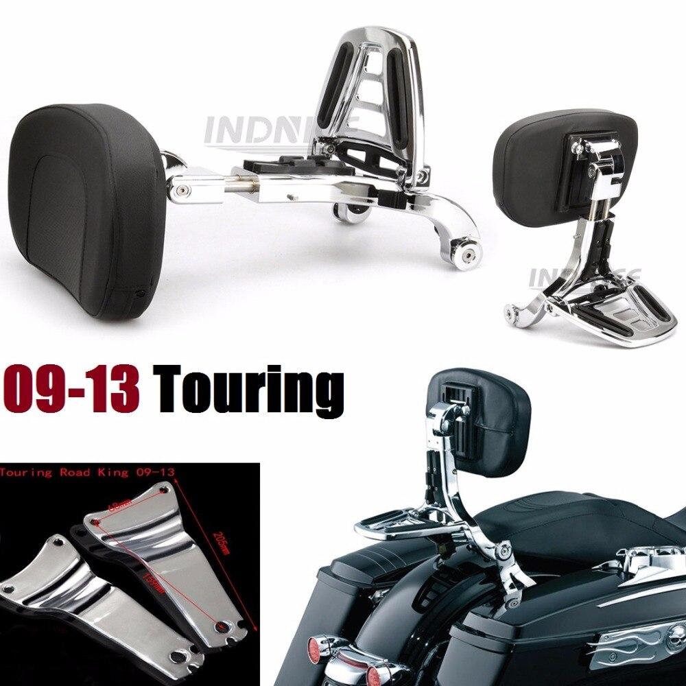 Adjustable Driver Passenger Backrest For Harley 09-13 Electra Glide Standards, Road Glides, Road Kings & Street Glides (except F
