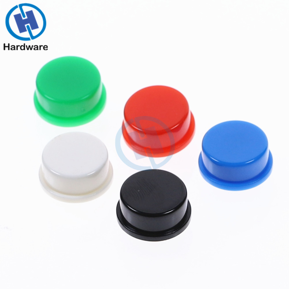 100Pcs Round Tactile Button Caps Kits For 12*12*7.3mm Micro Tact Switch For Arduino