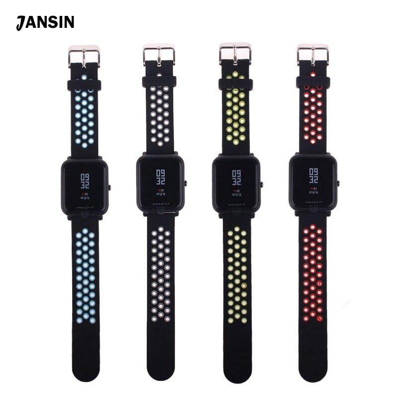 JANSIN Bracelet En Silicone Bracelet Pour Xiaomi Huami Amazfit Bip PEU RYTHME Lite Jeunes Montre Smart Watch Remplacer Bracelet Bracelet bracelets